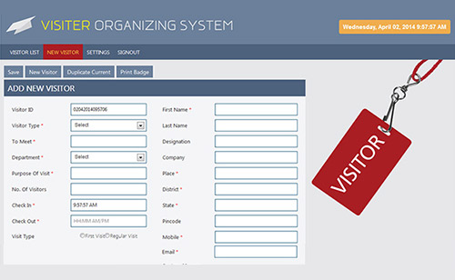 Visitor Management System (VOS)
